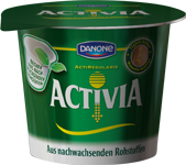 Activia cup made from PLA; © Danone